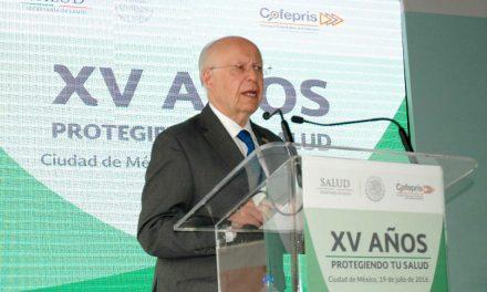 Secretario Narro reconoce a COFEPRIS por mejorar salud de los mexicanos