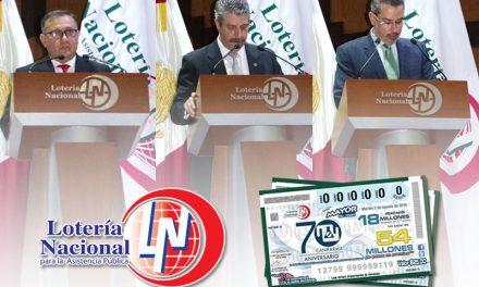 Lotería Nacional celebra el 70 aniversario de CANIFARMA con un billete conmemorativo