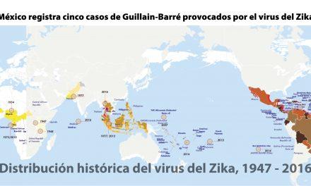 México registra cinco casos de Guillain-Barré provocados por el virus del Zika
