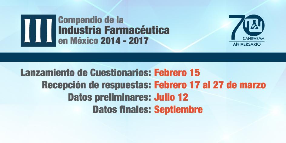 III Compendio estadístico de la Industria farmacéutica en México 2014-2017