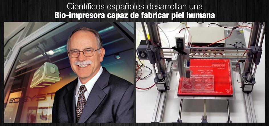 Científicos españoles desarrollan una bio-impresora capaz de fabricar piel humana