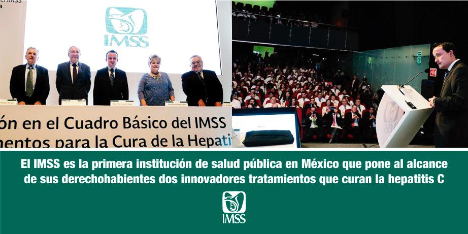 <strong>El IMSS</strong> es la primera institución de salud pública en México que pone al alcance de sus derechohabientes dos innovadores tratamientos que <strong>curan la hepatitis C</strong>