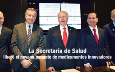 La Secretaría de Salud liberó el noveno paquete de medicamentos innovadores