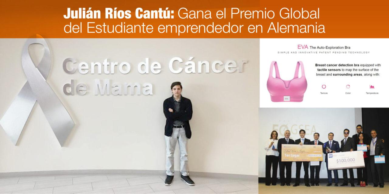 """<p class=""""p1"""">Gana el Premio Global del Estudiante Emprendedor en Alemania, el mexicano Julián Ríos Cantú</p><p class=""""p2""""></p>"""
