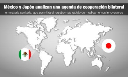 México y Japón analizan una agenda de cooperación bilateral en materia sanitaria, que permitirá el registro más rápido de medicamentos innovadores