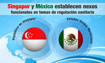 Singapur y México establecen nexos funcionales en temas de regulación sanitaria