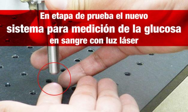 En etapa de prueba el nuevo sistema para medición de la glucosa en sangre con luz láser