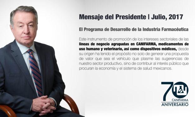 Julio, 2017 | Mensaje del Presidente: El Programa de Desarrollo de la Industria Farmacéutica