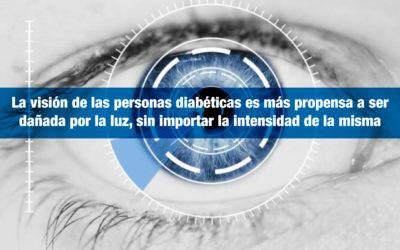 La visión de las personas diabéticas es más propensa a ser dañada por la luz, sin importar la intensidad de la misma
