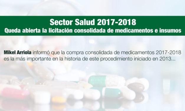 Queda abierta la licitación consolidada de medicamentos e insumos para el sector salud 2017-2018