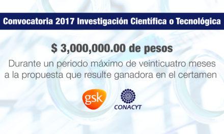 Convocatoria 2017 de investigación científica o tecnológica: GlaxoSmithKline | CONACYT