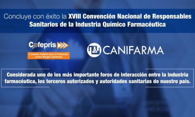 Concluye con éxito la XVIII Convención Nacional de Responsables Sanitarios de la Industria Químico Farmacéutica