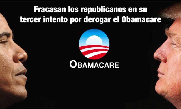 Fracasan los republicanos en su tercer intento por derogar el Obamacare