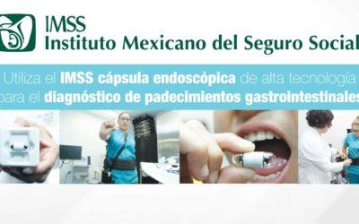 Utiliza el IMSS cápsula endoscópica de alta tecnología para el diagnóstico de padecimientos gastrointestinales