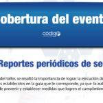 """Cobertura """"Taller: """"Reportes periódicos de seguridad"""""""