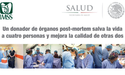 Un donador de órganos post-mortem salva la vida a cuatro personas y mejora la calidad de otras dos