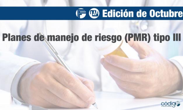 Planes de manejo de riesgo (PMR) tipo III
