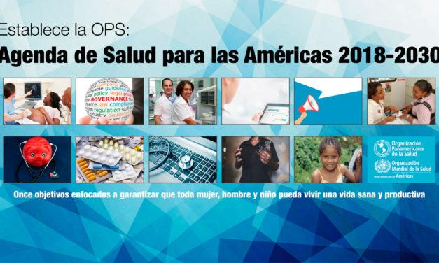 Establece la OPS Agenda de Salud para las Américas 2018-2030