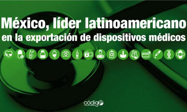 México, líder latinoamericano en la exportación de dispositivos médicos.