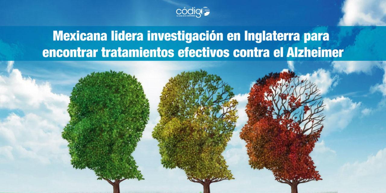 Mexicana lidera investigación en Inglaterra para encontrar tratamientos efectivos contra el Alzheimer