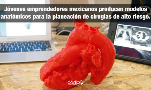 Jóvenes emprendedores mexicanos producen modelos anatómicos para la planeación de cirugías de alto riesgo.