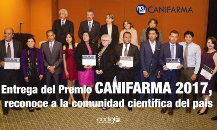Entrega del Premio CANIFARMA 2017, reconoce a la comunidad científica del país