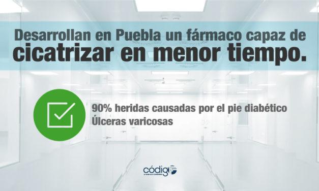 Desarrollan en Puebla un fármaco capaz de cicatrizar hasta en un 90% heridas causadas por el pie diabético y úlceras varicosas en menor tiempo.