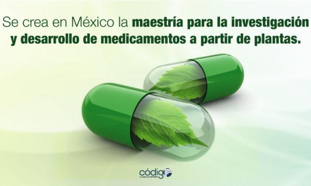 Se crea en México la maestría para la investigación y desarrollo de medicamentos a partir de plantas.