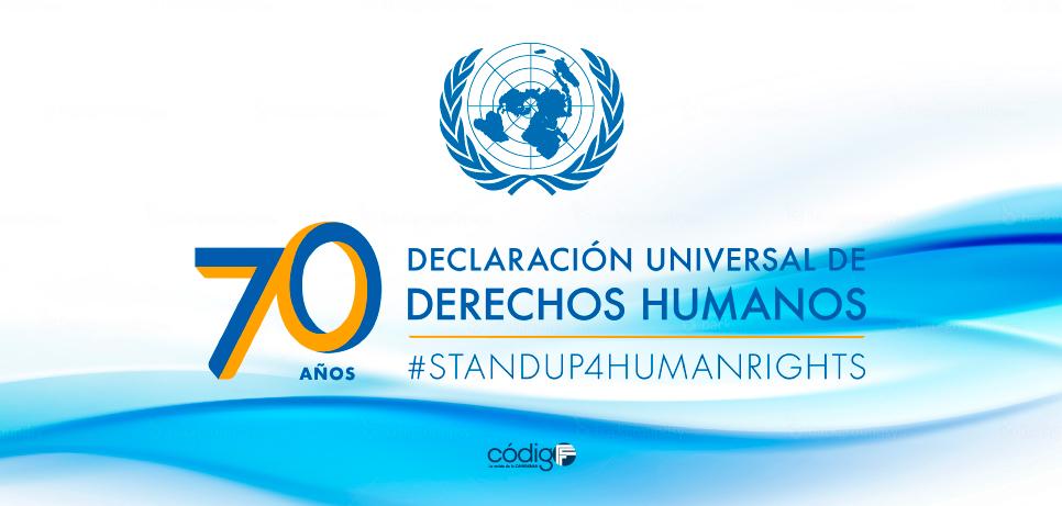 70 Aniversario de la Declaración Universal de los Derechos Humanos.