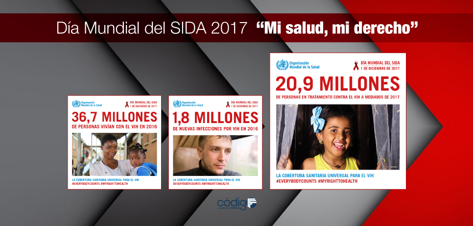 """Día Mundial del SIDA 2017  """"Mi salud, mi derecho"""""""
