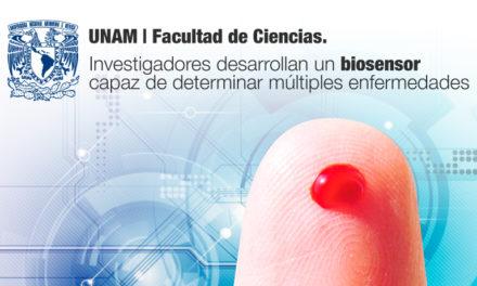 Investigadores de la Facultad de Ciencias de la UNAM, desarrollan un biosensor capaz de determinar múltiples enfermedades