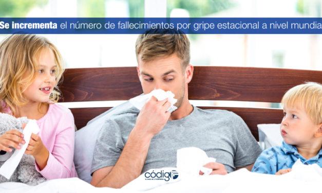 Se incrementa el número de fallecimientos por gripe estacional a nivel mundial.