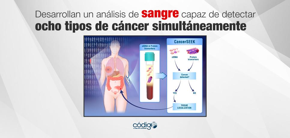 Desarrollan un análisis de sangre capaz de detectar ocho tipos de cáncer simultáneamente