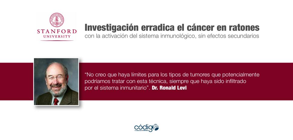 Investigación erradica el cáncer en ratones con la activación del sistema inmunológico, sin efectos secundarios